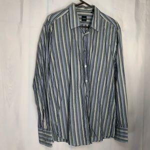 Hugo Boss Long Sleeve Striped Button Shirt